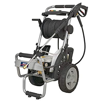Sealey PW5000 Professional Pressure Washer with TSS and Nozzle Set, 150Bar, 230V, Black/Silver by Sealey