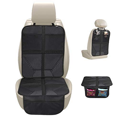JOYTUTUS 2-In-1 Kindersitzunterlage, Autositzauflage Autositzschoner kindersitz mit Rutschfester Polsterung und Organizer-Taschen
