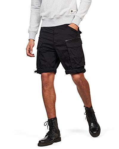 G-STAR RAW Herren Rovic Zip Relaxed 1/2-Length Shorts, Schwarz (Black 990), 32W