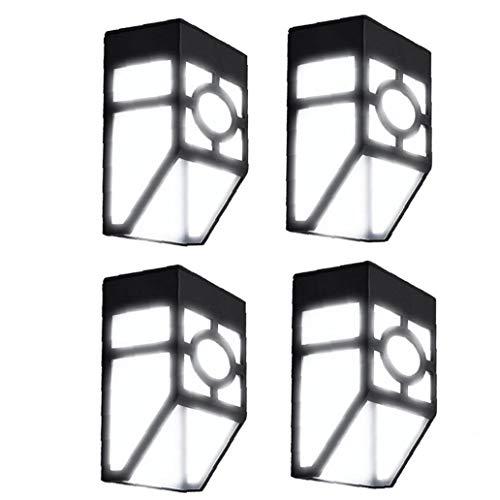 OMMO LEBEINDR Solarwandleuchten Im Freien Wasserdichten Retro Led Pane Lampe Für Deck Zaun Veranda Haustür Treppen Landschaft Yard White Light 4pcs Heimversorgung