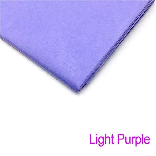 10 vellen 20x26 inch vloeipapier bloem kleding shirt schoenen geschenkverpakkingen ambachtelijke papierrol wijn inpakpapier, lichtpaars