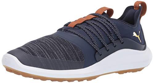Puma Golf Men's Ignite Nxt Solelace Golf Shoe, Peacoat-puma Team Gold, 12 M US