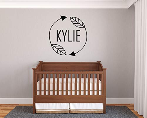 Personalized Name Arrows Prime Series Baby Girl Nursery Wall Decal For Baby Room Decorations Mural Wall Decal Sticker For Home Children'S Bedroom