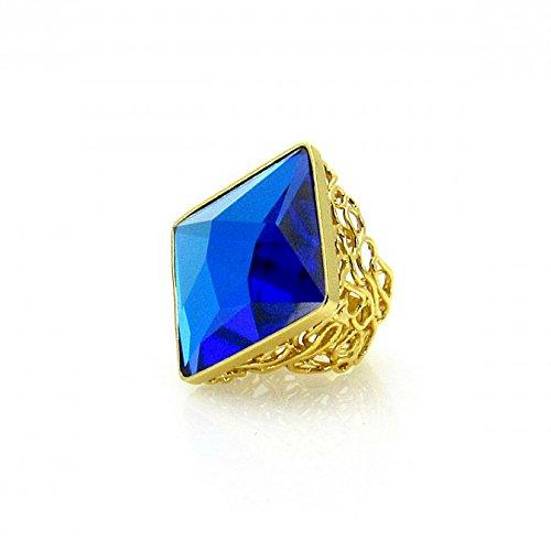 Anillo Arianna reflexión con Swarovski Crystals Azul