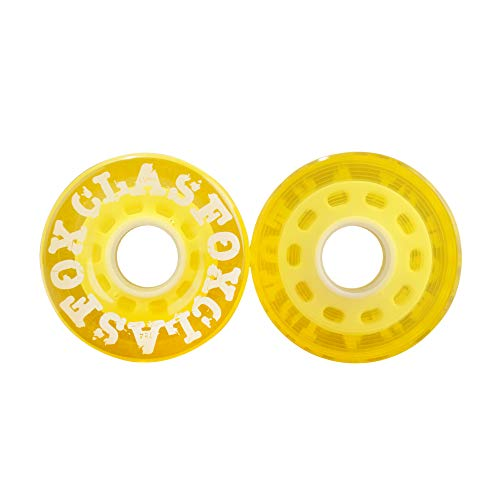 CLAS FOX 78A Indoor or Outdoor 65x35mm Quad Roller Skate Wheels 8 Pcs (Yellow).