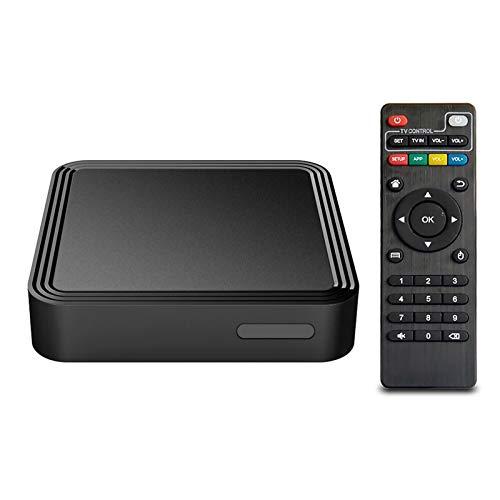 Caja de TV de Android 10.0, Quad Core 4GB RAM 32GB ROM Set Top Android TV Box, Dual-WiFi 3D 4k Smart Android TV Box con Bluetooth, USB 2.0 y HDMI 2.0 H.265