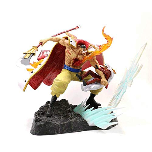 NAMFSR New One Piece GK White Beard Vs. Red Dog Furious White Beard Daddy 29cm PVC Material Boxed Anime Characters Hand-Made Model Jewelry Toys Handmade Computer Desktop Decoration