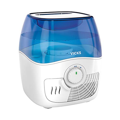 Vicks Filtered Cool Mist Humidifier, Medium Room, 1.1 Gallon Tank - Humidifier for Baby and Kids Rooms, Bedrooms and More, Works with Vicks VapoPads