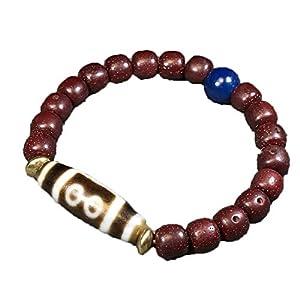 ZHIBO Tibet Cinnabar Armband Five Eye Dzi Bead Collection