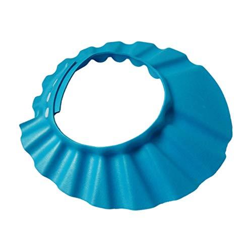 Sombrero de ducha para bebé de Topbathy, con visera para proteger el cabello, sombrero ajustable azul azul