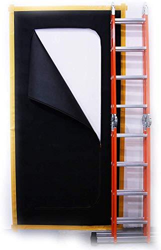 SafeCore Anti-Staub Reißverschluss Tür Staubabdeckung aus dickem 220 cm x 110 cm Polypropylen-Gewebe Außergewöhnlich langlebig Bautür Staubschutz Renovierung Staubbarriere