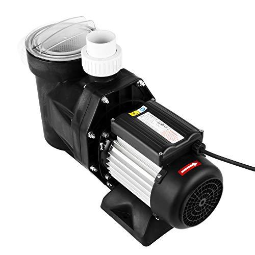 everfarel Filterpumpe mit Vorfiltersieb und Sieb Poolpumpe 19200 l/h 2,0PS 750 W Schwimmbadpumpe IP 54 Umwälzpumpe