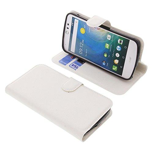 foto-kontor Tasche für Acer Liquid Z530 Liquid M530 Book Style weiß Schutz Hülle Buch