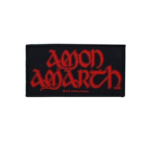 Amon Amarth - Logo parche estándar negro / rojo