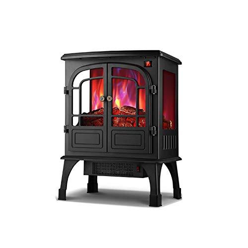 yankai Elektrokamin Mit Heizlüfter Kaminheizung Im Europäischen Stil, 3D-Simulationsflammenheizung, Zweifarbige Flamme/Überhitzungsschutzfläche 25-30 M²