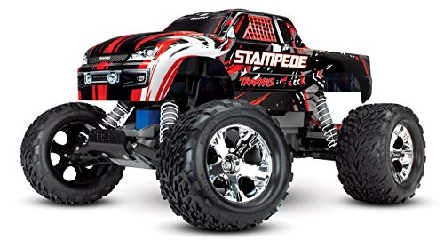Traxxas Stampede 1/10 2WD Monster Truck with TQ 2.4GHz Radio, Red, 1:10 Scale