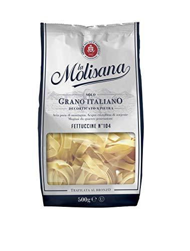 La Molisana, Fettuccine n.104 Pasta Lunga, SOLO Grano Italiano - 500g
