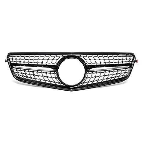WYKDM Coche Frente Grill Grill, para Mercedes para Benz C-Class W204 C180 C200 C300 2008-2014 Negro/Chrome W204 Diamond Style Grille,Negro
