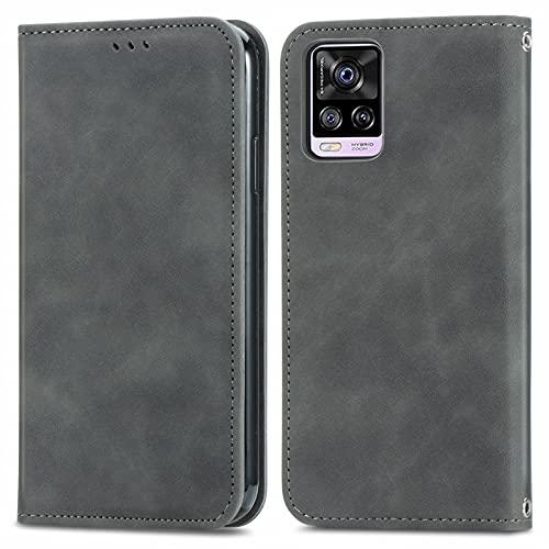 Coque Portefeuille pour Vivo S7 6.44inch Housse Etui en Flip Case, Magnétique Carte Fentes Stand, Protection Antichoc Cover pour Vivo S7 - JESD250811 Vert