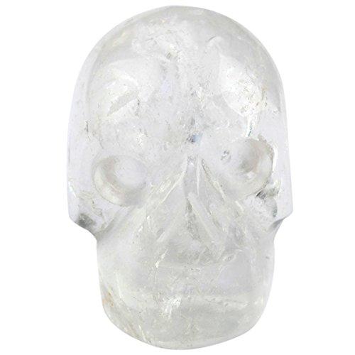 Rockcloud Healing Crystal Stone Human Reiki Skull Figurine Statue Sculptures Rock Quartz 1'