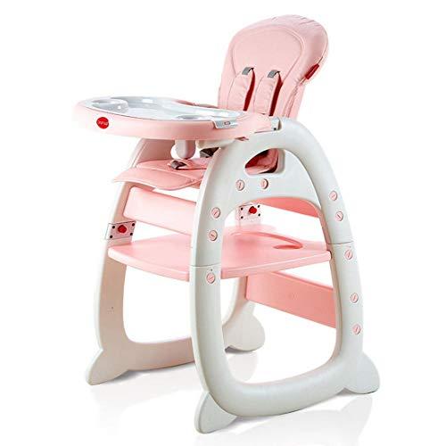 YUYAXPB Einstellbar 3 in1 Multi Kinderhochstuhl Stuhl Kombihochstuhl Tisch Baby Hochstuhl Schaukel Säugling, Pink