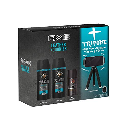 Axe Axe Pack Leather And Cookies Tripode - 2 X 150 Ml Y Mini 35 Ml Y Tripode 460 g