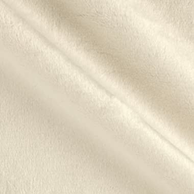 Shannon Fabrics Shannon Minky Solid Cuddle 3 White Fabric By The Yard