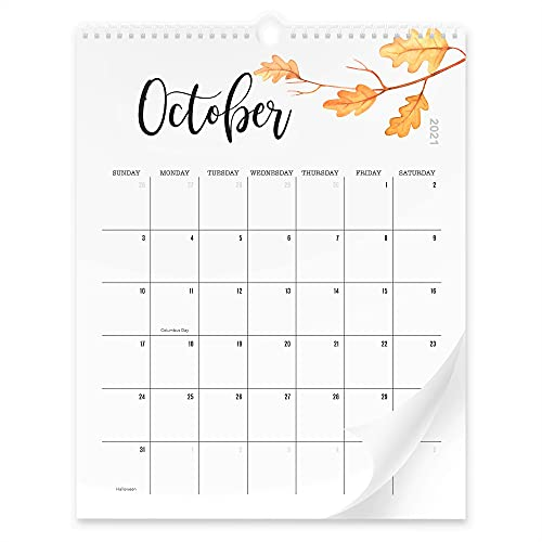 Aesthetic Floral Wall Calendar - The Perfect Monthly Calendar With Seasonal Designs for Easy Planning - Runs from August 2021 Until December 2022
