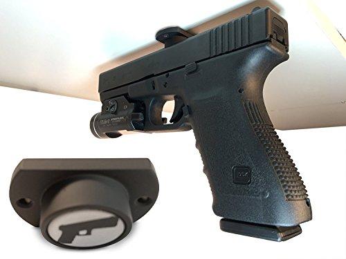 Gun Magnet w/ Adhesive Backing | Car Holster | Bedside Holster | Steering Wheel Gun Holster | Under The Desk Pistol Holster | Gun Holsters for Cars | Vehicle Gun Mount | Pistol Holster in Car