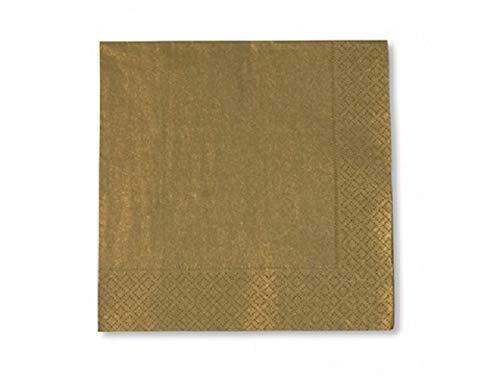 20 tovaglioli di carta oro 33 x 33 cm natalizi