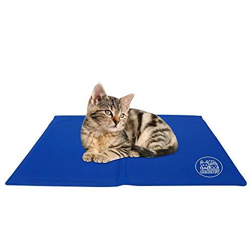 Bravpet Kühlmatte für Haustiere Haustier Selbstkühlendes Pad Matte Bettmatten Komfort für Katzen und Hunde (XL)