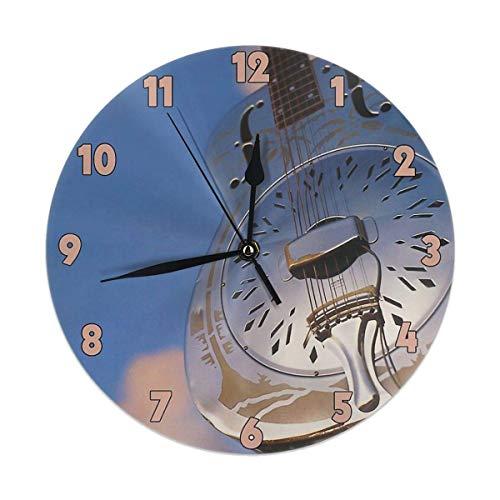 gardenia store Dire Straits Brothers in Arms Round Home Decor - Reloj de Pared (9,84 Pulgadas)