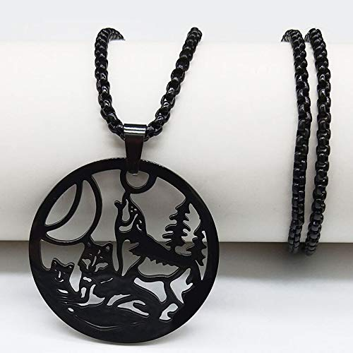 YUANBOO Moda Tigre Negro Acero Inoxidable Collares para Mujer Declaración Collar Gótico Joyería Collar Masculino