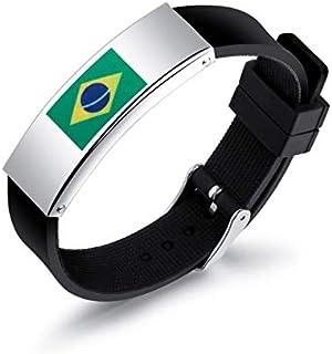 شخصية سيليكون الرجال أساور روسيا كأس العالم البرازيل العلم شعار عشاق اليدين عصابة