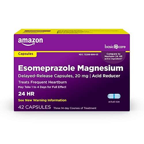 Amazon Basic Care Esomeprazole Magnesium Delayed Release Capsules 20 mg Blue 42 Count
