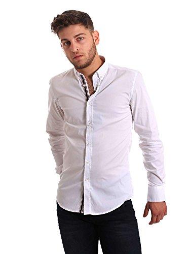 Antony Morato MMSL00434-FA450001, Camisa Casual Para Hombre, Blanco (White), Medium