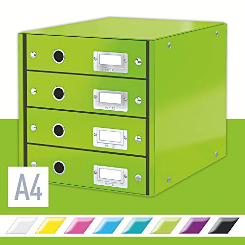 Leitz Ladekast Click & Store Wow 4Drawer, Groen