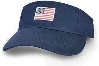 Tirrinia Visor Cap Adjustable Low Profile Cotton Structured Sun Flare Baseball Caps American Flag Flame Racing