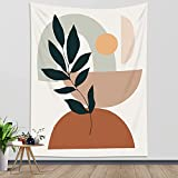 HVEST Boho Tapestry Wall Hanging Mid Century Modern Geometric Tapestrise Minimalist Aesthetic Terracotta Wall Decor Blanket for Living Room Bedroom Teen Dorm Party, 40Wx60H Inch