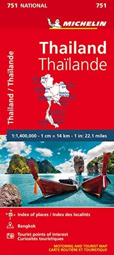 THAILAND 11751 CARTE ' NATIONAL ' MICHELIN KAART