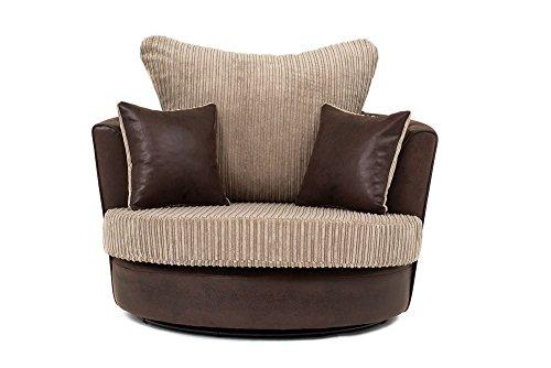 Abakus Direct Lush Swivel Chair in Brown