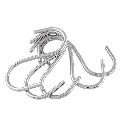 Nologo SNUIX Estantería Gancho Gancho del Metal del Acero Inoxidable for el supermercado Tienda de Ropa, Longitud: 5,5 cm, 200 PCS
