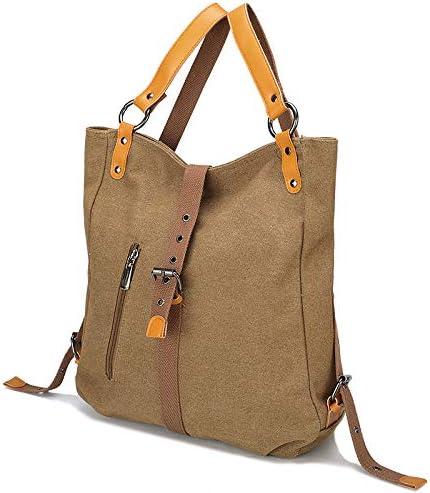 Womens Fashion Purse Backpack Canvas Multipurpose Design Handbags and Shoulder Bag School Hobo Travel bag