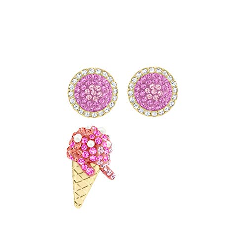 Swarovski No Regrets Ice Cream oorbellen, meerkleurig, verguld