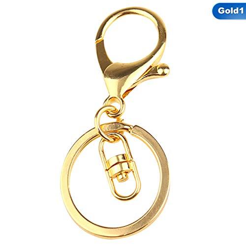 HXYKLM Mode Goud Zilver Sleutelhangers Ring Sieraden Maken Accessoires Onderdelen Tas Bedels Auto Sleutelhanger Trinket GD1