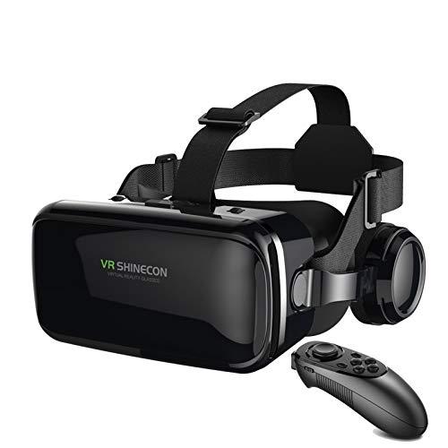 YQY Auriculares VR, Auricular de la Realidad Virtual de HD protegidos contra el Ojo de la VR, 4.7-6 en Pantalla, para Videos inmersivos de 360 Grados Películas