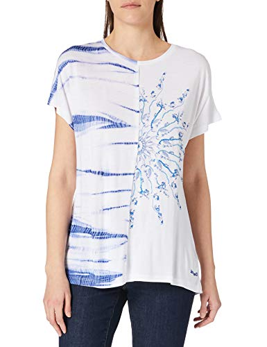 Desigual TS_Nanette Camiseta, Blanco, M para Mujer