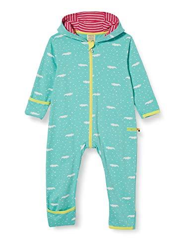 loud + proud Baby-Mädchen Overall Allover Print Organic Cotton Strampler, Grün (Mint Min), (Herstellergröße: 62/68)