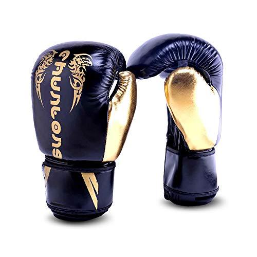 ZHJC Guantes de Entrenamiento de Boxeo Guantes de Boxeo Saco de MMA...