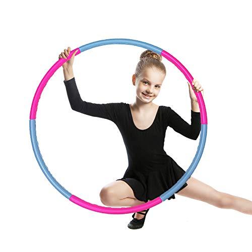 SwirlColor Hula Hoop Reifen Kinder, Fitness Hula Hoop Abnehmbarer Hula Hoop für Zuhause Draussen Schule Party Tanzen 1St
